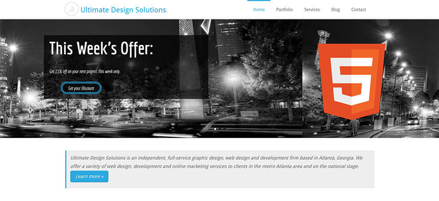 landing page | affordable web design atlanta